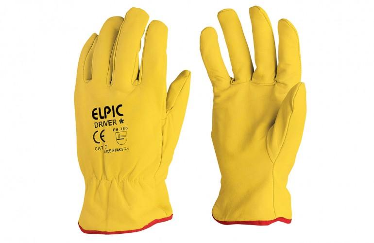Elpic® Driver Plus Sarı Sürücü Eldiveni