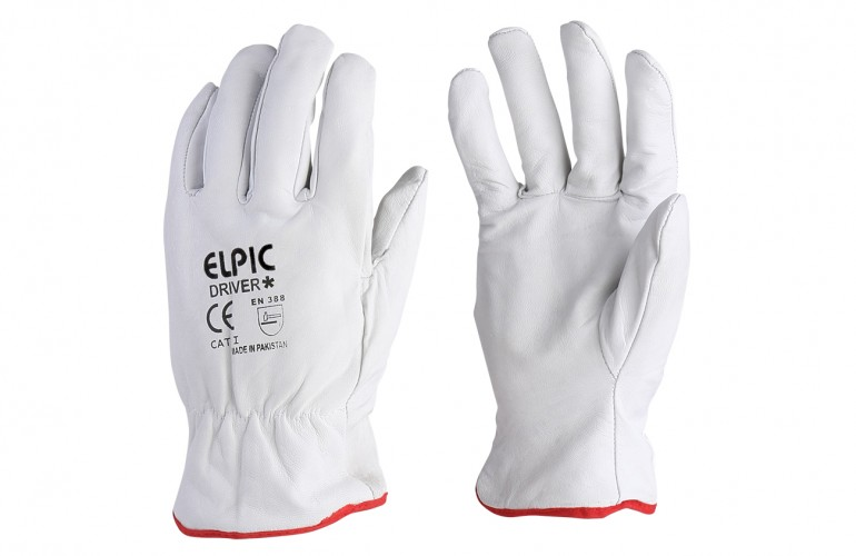 Elpic® Driver Plus Beyaz Sürücü Eldiveni